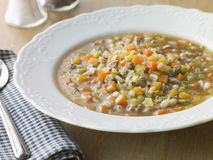 Bowl of Scotch Broth Stock Images
