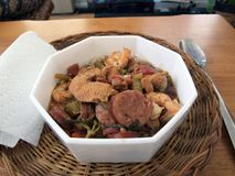 Gumbo in bowl Royalty Free Stock Image