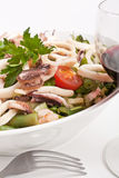 Bowl of Seafood Salad Stock Photos