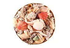 Bowl of seashells house decoration Stock Photography