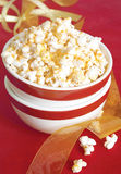 Bowl of seasoned popcorn Stock Images