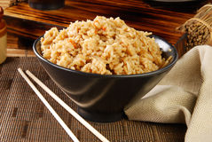 Bowl of seasoned rice Stock Photos