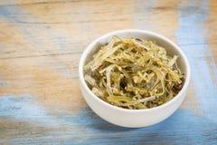 Bowl of seaweed salad Royalty Free Stock Images