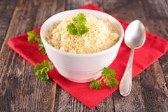 Bowl of semolina Royalty Free Stock Photos