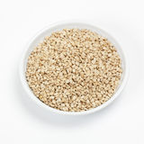 Bowl of sesame seeds Royalty Free Stock Photography