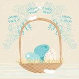 Bowl-Shaped Easter Basket Royalty Free Stock Photo