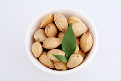 Bowl of shelled almonds Stock Photos