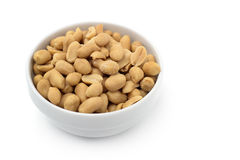 Bowl of shelled peanuts Royalty Free Stock Photo