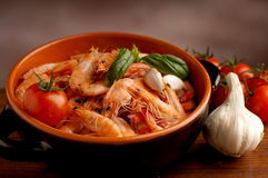 Bowl of shrimp Royalty Free Stock Photography