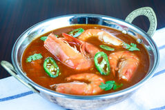 Bowl of Shrimp Curry Stock Photo