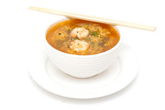 Bowl of shrimp soup Royalty Free Stock Photos
