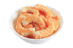 Bowl with shrimps Stock Photos