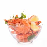 Bowl of shrimps Royalty Free Stock Photography