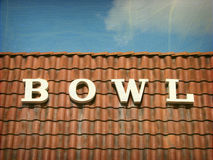 Bowl sign Royalty Free Stock Images