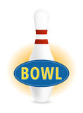 Bowl sign Royalty Free Stock Image