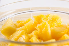 Bowl of a sliced pineapple Royalty Free Stock Images