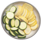 Bowl of Sliced Squash and Zucchini. Bowl Fresh of Sliced Squash and Zucchini Food Image Royalty Free Stock Image