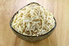 A bowl of slivered Almond Royalty Free Stock Image