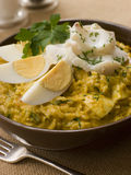 Bowl of Smoked Haddock Kedgeree Royalty Free Stock Images