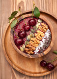 Bowl smoothie with cherry Stock Photography