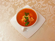 Bowl of soup Stock Images