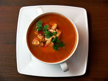 Bowl of soup Stock Photography