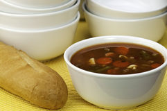 Bowl of soup Royalty Free Stock Photos