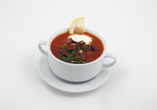 Bowl with soup Royalty Free Stock Images