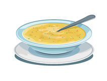 Bowl of soup stock illustration
