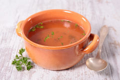 Bowl of soup Stock Photos