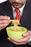 Bowl of soup  noodles Stock Image