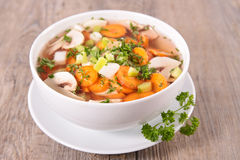 Bowl of soup Royalty Free Stock Image