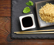 Bowl of soy sauce Royalty Free Stock Photography
