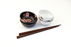 Bowl of soy sauce, Sushi Set Royalty Free Stock Images