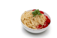 Bowl of spaghetti Stock Photography