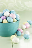 Bowl of Speckled Easter Eggs Royalty Free Stock Images