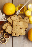 Bowl of speculaas biscuits Royalty Free Stock Photos