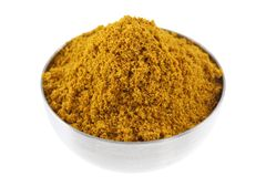 A bowl of spicy Curry Powder Royalty Free Stock Image