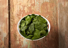 Bowl Of Spinach Stock Photography