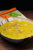 Bowl of Split Pea Soup Stock Images