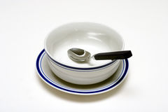 Bowl and Spoon. Soup bowl and spoon Stock Images
