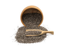 Bowl and spoon with chia seeds Stock Photography