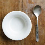 Bowl and spoon Stock Photography