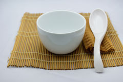 Bowl and Spoon Royalty Free Stock Photos