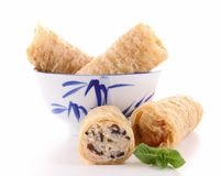 Bowl of spring roll Stock Images