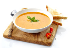 Bowl of squash soup Royalty Free Stock Photos