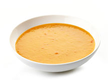 Bowl of squash soup Royalty Free Stock Photo