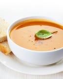 Bowl of squash soup Stock Photo
