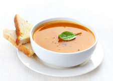 Bowl of squash soup Stock Images