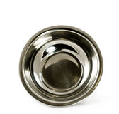 Bowl from stainless steel Stock Photo